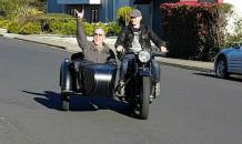 Russian fan gives Metallica frontman Soviet motorcycle