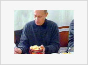 What does the Russian president eat?