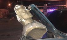 Marshal Zhukov bust vandalized in Ukraine