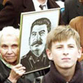 Russian communists celebrate Stalin's 125th birthday