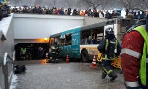At least five killed as bus rams into crowd and drives into underground passage in Moscow