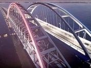 Railway arch for Kerch Bridge installed. Video