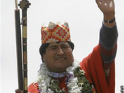 Bolivia's Evo Morales, voted by the people and blessed by ancient gods