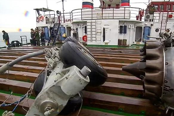 What happened on board Tu-154?
