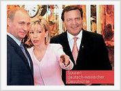 Gerhard Schroeder and his wife adopted Russian girl from President Putin's hometown