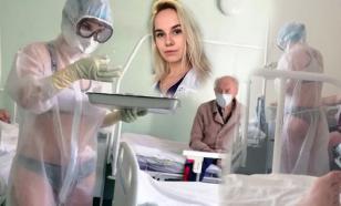 Hot Russian nurse becomes a hot model