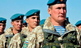 Russian airborne forces to land in a desert near Egypt