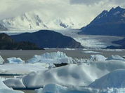 Glaciers melt in Argentina's Patagonia, as climate changes