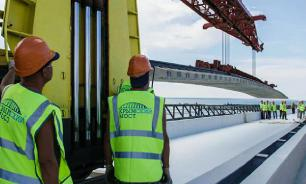 Sunken section of Crimean Bridge retrieved from the sea