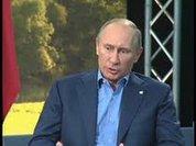 Putin throws down Obama