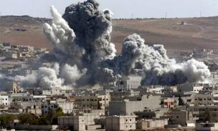 US coalition strikes Syrian village