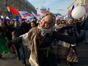 Russians show their unity to counter Western pressure
