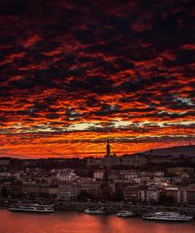 Budapest at sunset and sunrise
