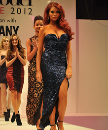 Amy Childs at the Clothes Show in Birmingham