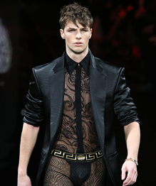 Lacy and racy collection for men by Versace