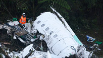 The British Aerospace 146 short-haul plane declared an emergency and lost radar contact, according to Colombia s aviation agency. It said the plane s black boxes had been recovered and were being analyzed. All but six of the 77 people on board were killed. The aircraft, which departed from Santa Cruz, Bolivia, was carrying the Chapecoense soccer team from southern Brazil for Wednesday s first leg of the two-game Copa Sudamericana final against Atletico Nacional of Medellin