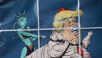 Donald Trump has appeared in many caricatures that express people s feelings about one of the most hateful presidents in US history. Some of the caricatures show that many people in the West do believe that Trump is a protege of the Kremlin