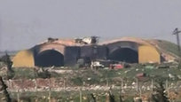 Images of Shayrat airbase after the US cruise missile attack on April 7. Representatives of the Russian Defense Ministry said that 23 of 59 US missiles did not reach the target and it remains unknown were they fell. US cruise missile attack destroyed a warehouse, an educational building, a dining room, six MiG-23 aircraft in repair hangars, as well as a radar station.