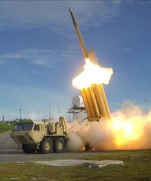 THAAD interceptor in action