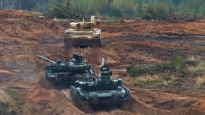 Seven hundred units of military equipment and about 13,000 troops take part in large-scale Russia-Belarus Zapad-2017 (West-2017) military drills. The second stage of the joint strategic exercises Zapad-2017 kicked off on September 17. During the second stage of the drills, it is planned to work on issues of troops management in repelling aggression of Russia and Belarus. During the drills, Russia also tested its new T-80 tank.