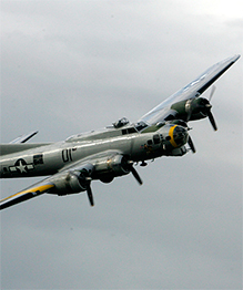 Flying fortress in the air