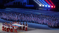 Closing ceremony of Sochi Winter Olympic Games on Fisht Stadium