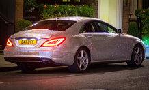 Russian girl drives Swarovski-encrusted Mercedes