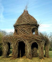 Willow-weaving art by Patrick Dougherty