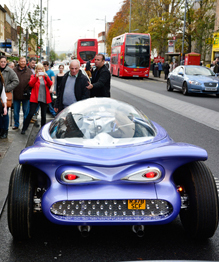 Man builds his dream car from household rubbish