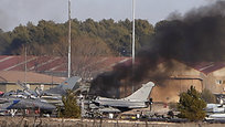 Ten people were killed and over 20 were injured when Greek fighter jet F16 crashed on parked airplanes