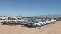 Aircraft boneyard in Arizona