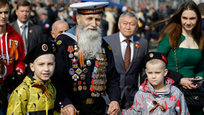 Soviet veterans of WWII from various republics of the former Soviet Union came to Moscow to watch the 70th Parade in honor of Great Victory over fascism