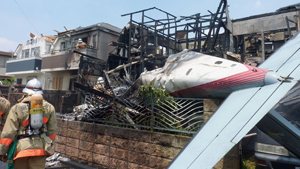 In Tokyo, a small plane crashed on houses, and in another part of the world, debris of the missing Boeing 777 were found on Reunion island