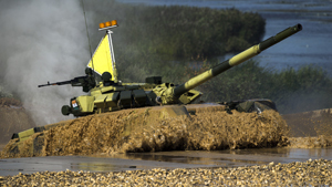 Tank crews compete as part of International Army Games in Alabino, the Moscow region. The competition involves troops from Russia and several other nations, such as Armenia, Venezuela, China, India, Kazakhstan, Kyrgyzstan, Kuwait, Nicaragua, Serbia and Tajikistan