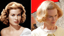 Photos of Nicole Kidman dressed up as Princess Grace Kelly appeared on Oct. 9. The actress is shooting scenes for the upcoming film Grace of Monaco. The movie, set in 1962, follows the tragic star, who hit it big in Hollywood before marrying Price Rainier of Monaco in 1956. Production is currently taking place in Menton, a commune in the southeastern section of France, not far from Monaco  All photos: Splash/All Over Press