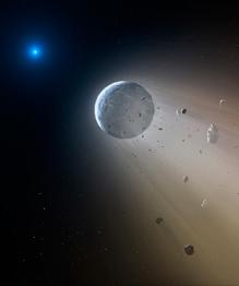 White dwarf destroys solar system