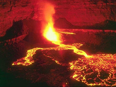 Most beautiful volcanoes in the world. Kilauea volcano, Hawaii